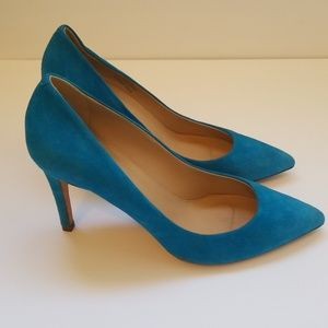 J. CREW Everly Suede Pumps Size 7.5 Made In Italy